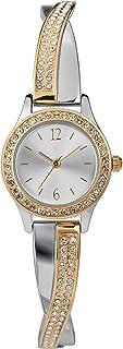 Timex Women's Swarovski Crystal 23mm Watch & Bracelet Gift Set – Two-Tone