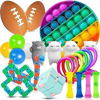 FIDGET TOYS   Pack 24 pièces   Jouet sensoriel pour enfants et adultes   Objet Anti-stress   Bubble pop it   Educatif   So...