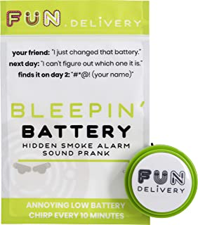 FUN delivery: Bleepin' Battery Hidden Annoying Smoke Alarm Beep Prank Joke Gag Sound