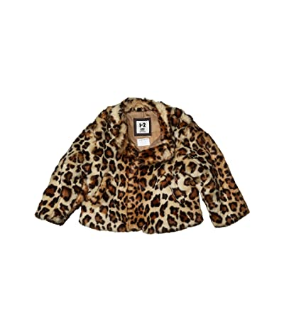 COTTON ON Charlie Faux Fur Jacket (Little Kids) (Animal Print) Girl