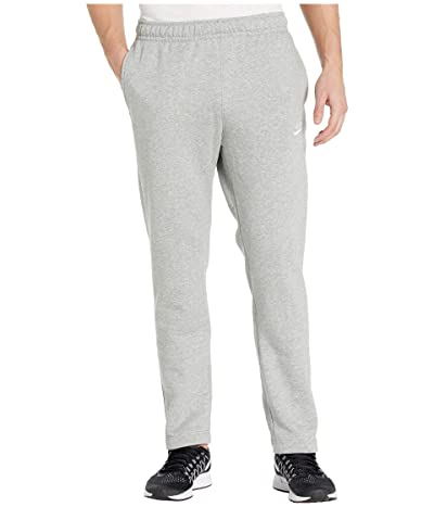 Nike NSW Club Pants Open Hem (Dark Grey Heather/Matte Silver/White) Men