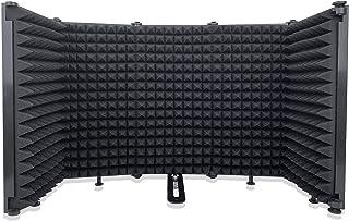 StreamPower 5 Panel Microphone Isolatoion Shield ، بازتابنده فوم جاذب تاشو با فوم با چگالی بالا ، پاها بدون لغزش ، انعطاف پذیر