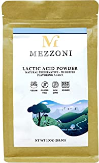 Mezzoni Foods Lactic Acid Food Grade 10 Ounce – Natural Preservative, pH Reducer, Vegan Cheese Powder and Flavoring Agent ...