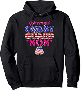 Proud US Coast Guard Mom Hoodie Military Mother Gift Pullover Hoodie