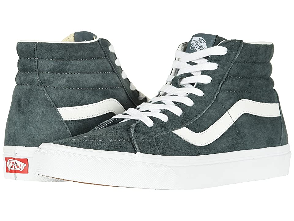 Vans SK8-Hi Reissue ((Pig Suede) Stormy Weather/True White) Skate Shoes