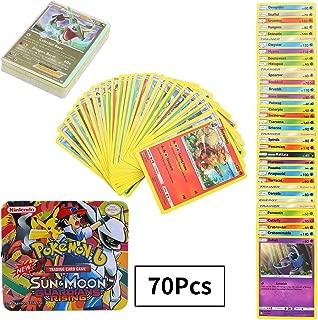 108Pcs Jeu de Cartes Pokemon Cartes, Carte de Pokemon Amusant pour Enfants, Cartes à Collectionner, GX EX Cartes, Sun & Moon Series