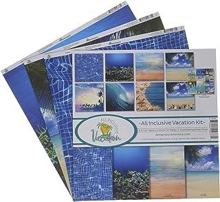 Reminisce (REMBC) All Inclusiive Vacation Scrapbook Collection Kit, Multi Color Palette