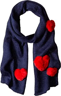 Faux Fur Heart Applique Scarf