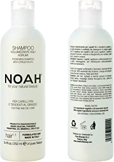 Noah Hair 1.1 Volumizing Shampoo - Organic Shampoo – Best Volumizing Shampoo - With Essential Oils and Hydrolysed Wheat Protein – Hair Products for Natural Beauty - 8.5 fl.oz (250 ml)