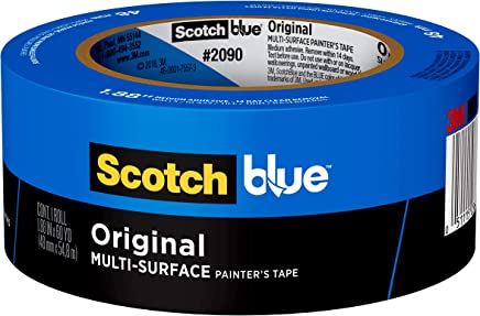 Scotch Painter's Tape 2090-48E 07230001245 ScotchBlue Painter's Tape, Multi-Use, 1.88-Inch by 60-Yard, 1 Roll, 1.88 inch x 60 yards, Blue