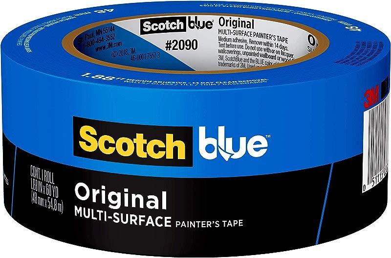 Scotch Painter S Tape 2090 48E 07230001245 ScotchBlue Painter S Tape Multi Use 1 88 Inch By 60 Yard 1 Roll 1 88 Inch X 60 Yards Blue