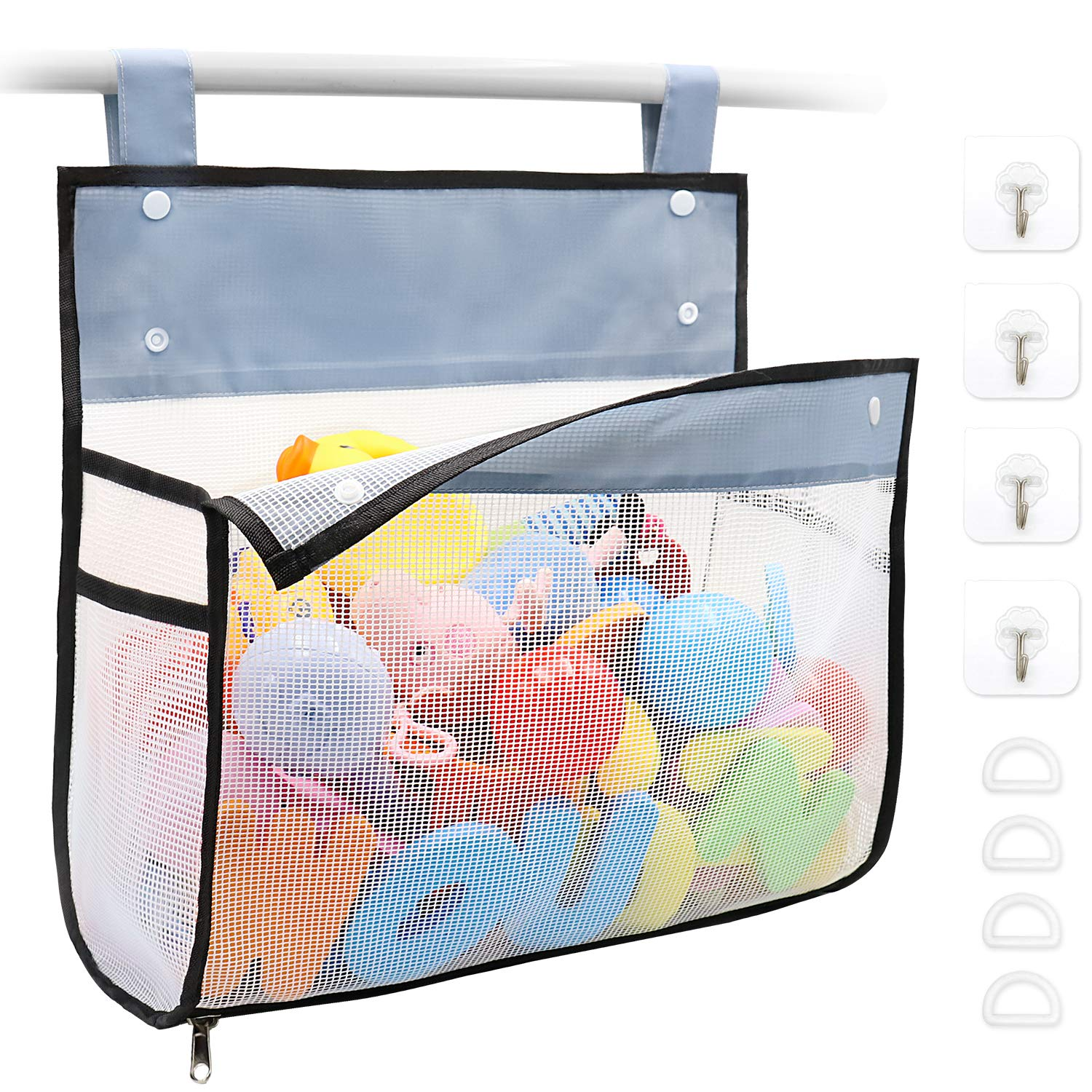 Bath Toy Financial sales sale Lowest price challenge Organizer Multiple Ways to Extra Ba Large Opening Hang