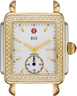 Michele - Deco 16 Diamond Two-Tone Silver/Gold Watch Head