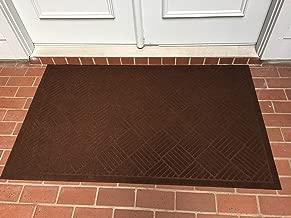 Heavy Duty Front Door Mat Large Outdoor Indoor Entrance Doormat Waterproof Low Profile Entrance Rug Patio Grass Snow Scraper Rubber Back - Durable and Easy to Clean (36