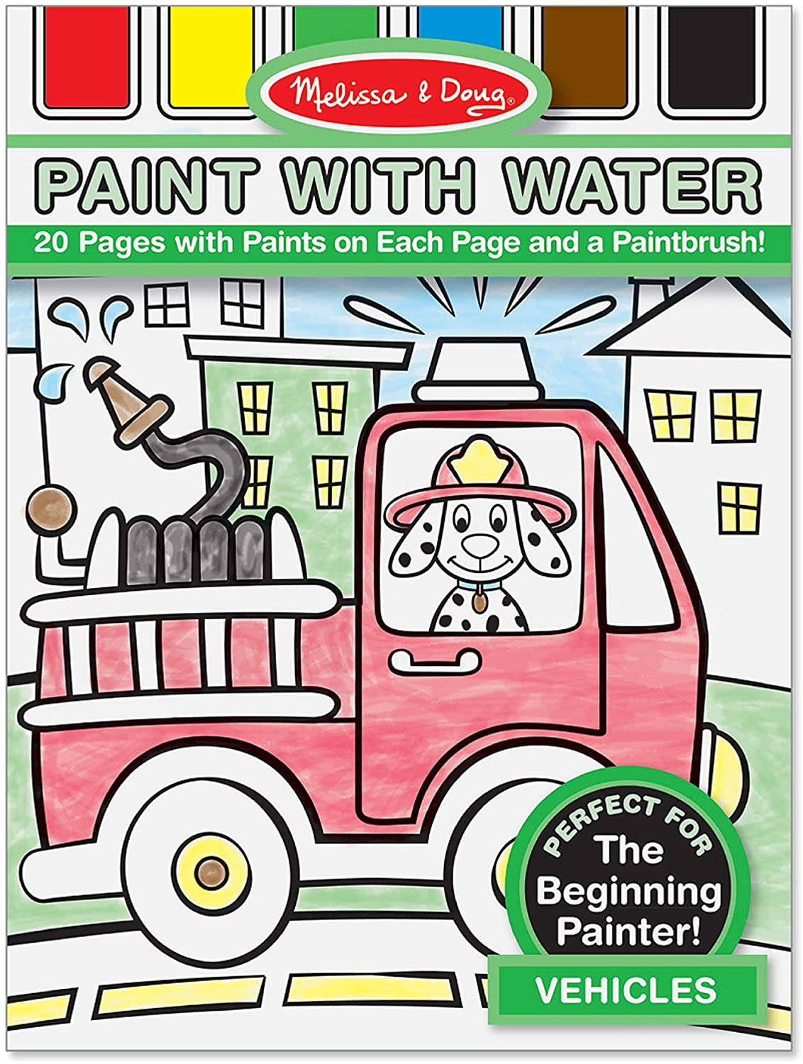 Melissa Doug Paint With Water - Perforated 20 Industry No. 1 Vehicles Credence Pages