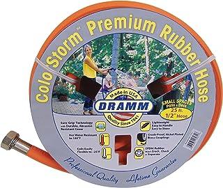 "Dramm 17032 ColorStorm Premium Rubber Garden Hose, 1/2""x25', Orange"