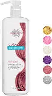 Keracolor Clenditioner Color Depositing Conditioner Colorwash, 6 Colors | Vegan and Cruelty Free, Liter
