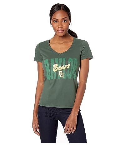 Champion College Baylor Bears University V-Neck Tee (Dark Green 1) Women
