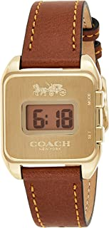 Coach Womens Quartz Wrist Watch, Brown Leather - 14503586