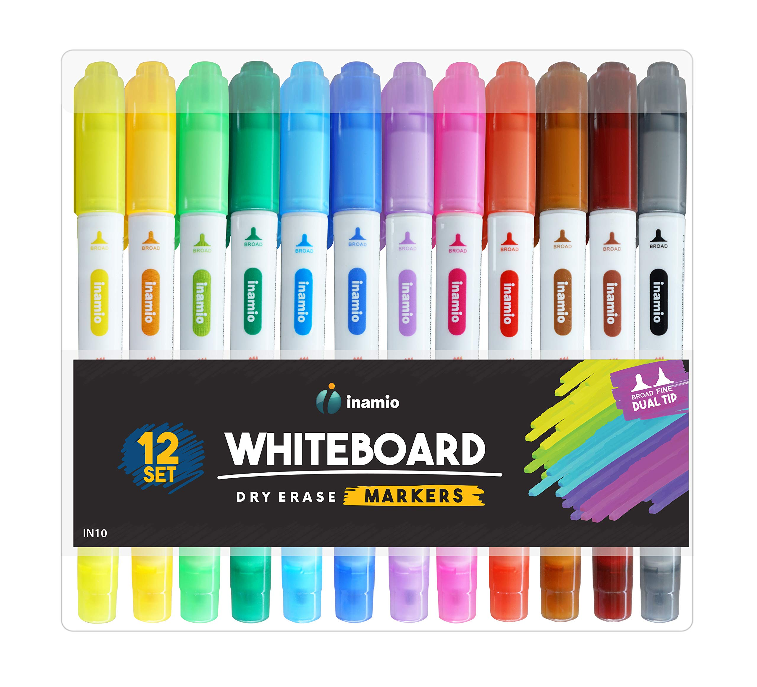 6-Color Packs Childrens Drawing Board Drawing and Graffiti Elimination Pens Erasable Markers Pens For Teaching and Office Color Whiteboard Pens Fine tip AFAN Whiteboard Dry Erase Pens