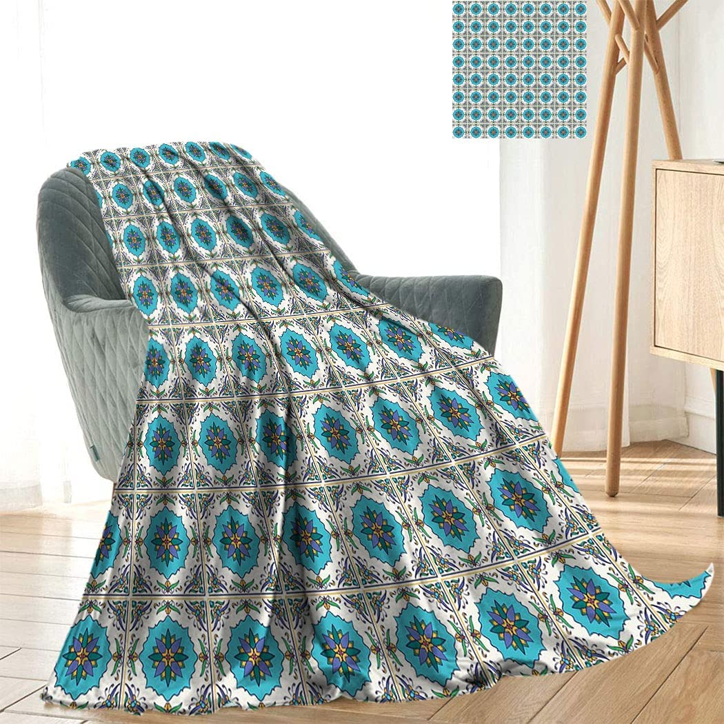 Geometric Super Soft Blanket Circles Ranking TOP3 Spring new work one after another and Vibrant with Squares Co