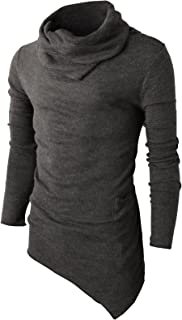 H2H Mens Casual Slim Fit Pullover Knitted Turtleneck Sweaters Long Sleeve Thermal