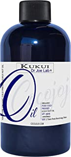 Kukui Nut Oil 4 oz 100% Pure Natural Cold Pressed Unrefined Extra Virgin Kukui Oil - Therapeutic Grade A for Hair Skin Body Nail and Beard
