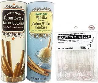 Trader Joe's Bundle Set Cocoa Baton and Vanilla Baton Wafer Cookies 5 oz Ea with 20-Pack 4