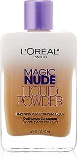 L'Oreal Paris Magic Nude Liquid Powder Bare Skin Perfecting Makeup SPF 18, Buff Beige, 0.91 Ounces