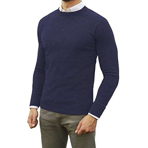 f4cd52ad4123 Comfortably Collared Men s Perfect Slim Fit Lightweight Soft Fitted Crew  Neck Pullover Sweater