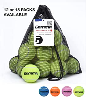 Gamma Bag of Pressureless Tennis Balls - Sturdy & Reuseable Mesh Bag with Drawstring for Easy Transport - Bag-O-Balls