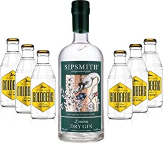 Gin Tonic Set - Sipsmith London Dry Gin 0,7l 700ml 41,6% Vol  6x Goldberg Tonic Water 200ml inkl. Pfand MEHRWEG -Enthält Sulfite