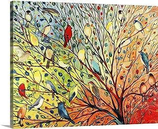 GREATBIGCANVAS Jennifer Lommers Premium Twenty Seven Birds Canvas Wall Art, 24x20, None