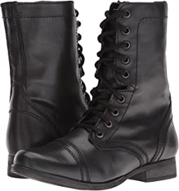 b560875d93c Black Leather. 5262. Steve Madden. Troopa Combat Boot