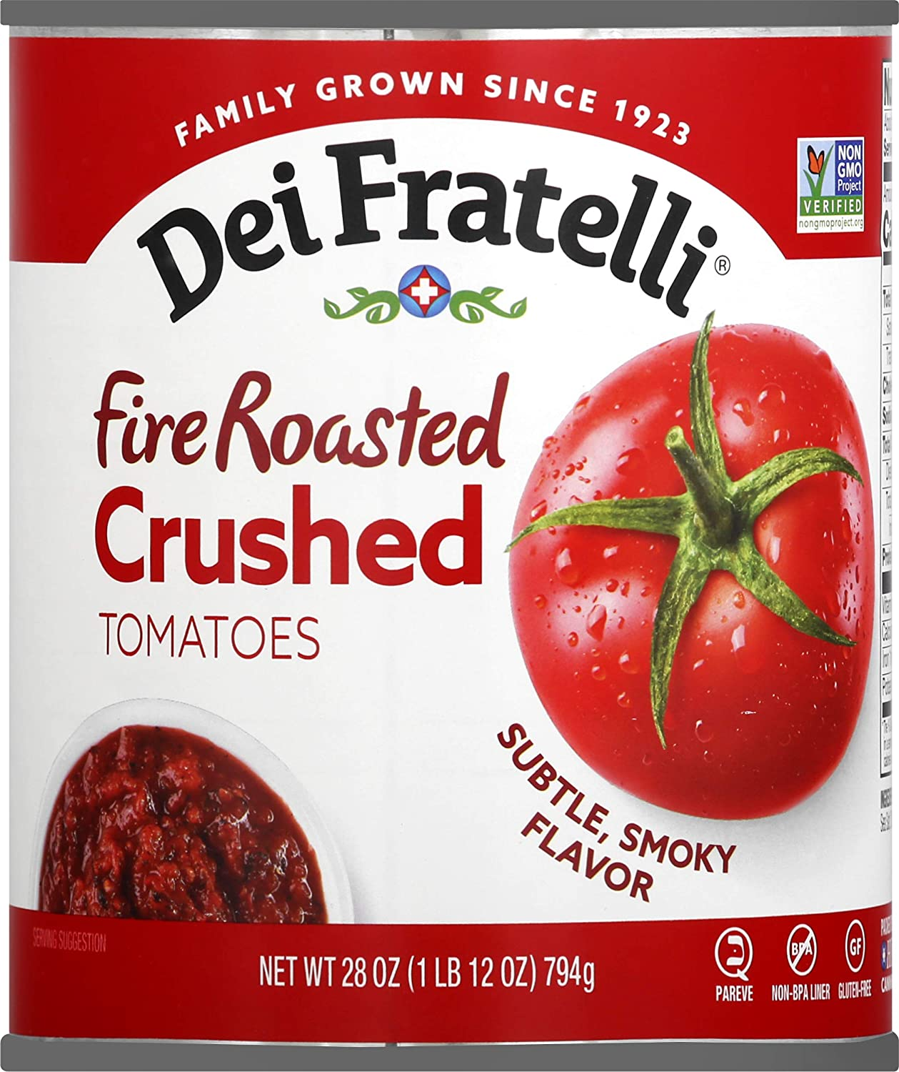 Dei Fratelli Fire Roasted Crushed Max 77% OFF Super beauty product restock quality top Tomatoes All - Wa Natural No