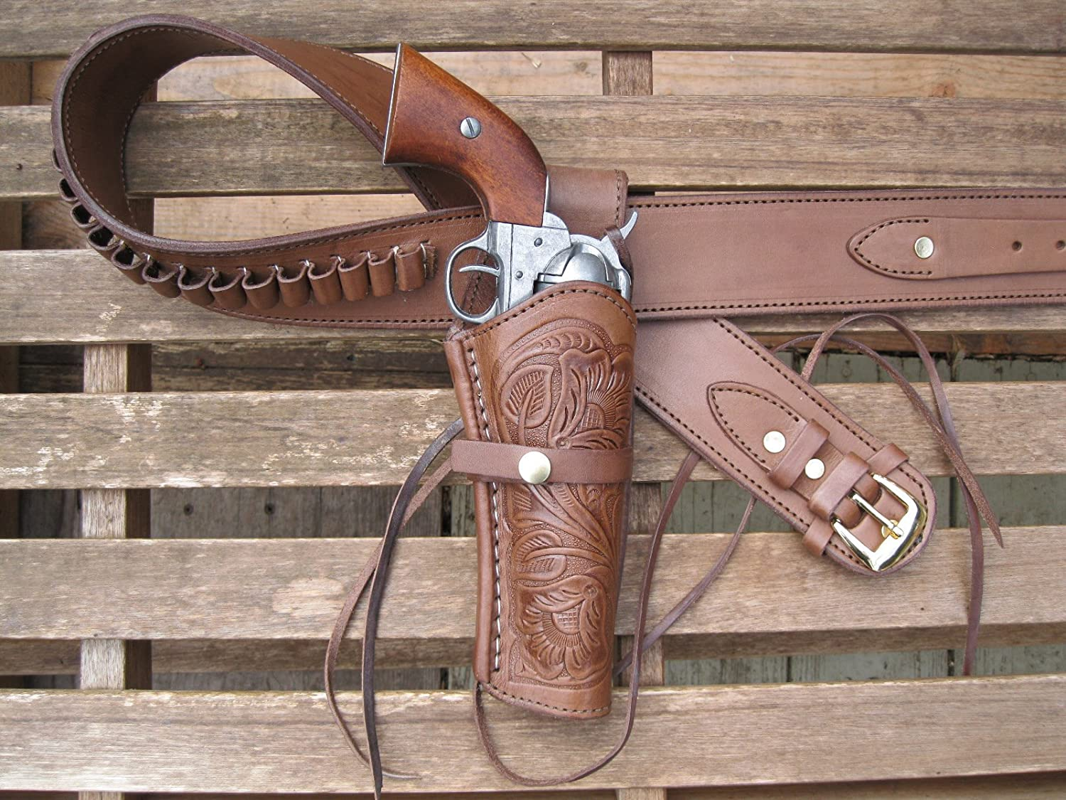 4 years warranty Gun Belt - Brown Color 45 with Caliber Tool Hand 8