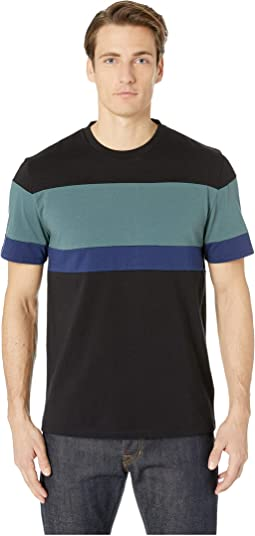 Color Block Short Sleeve Crew