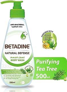 Betadine Natural Defense Body Wash, Tea Tree Oil - 500 ml