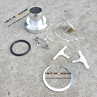 Ispeedytech New BOV Flange Adapter + Filter + Clamp For HKS SSQV SQV Adaptor Blow Off Valve