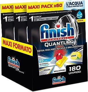 Finish, Quantum Ultimate, Activblu-technologie, 3 verpakkingen met 60 tabletten, citroen, 180 stuks