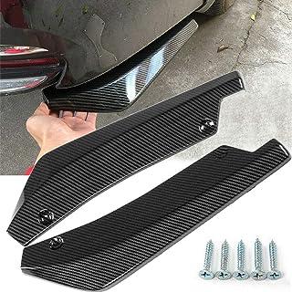 XuSha 2 x Car Auto Carbon Fiber Pattern Car Side Fender Rear Bumper Lip Diffuser Splitter