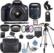 Canon EOS 2000D (Rebel T7) Cámara DSLR con Canon EF-S 0.709-2.165in F/3.5-5.6 lente zoom + funda + tarjeta de memoria de 32 GB + kit TopKnotch
