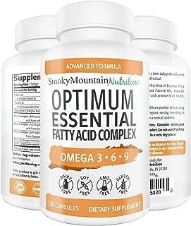 Omega 3 6 9 Triple Fish Oil 927mg Complex (120 Capsules) Fish Oil (EPA & DHA), Safflower Oil, Borage Oil, Flaxseed Oil- Non-GMO, Soy-Free, NSF-Certified