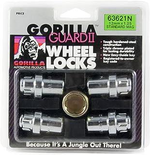 Gorilla Automotive 63621N Chrome Standard Mag Gorilla Guard II Wheel Locks - Set of 4 (12mm x 1.25 Thread Size)