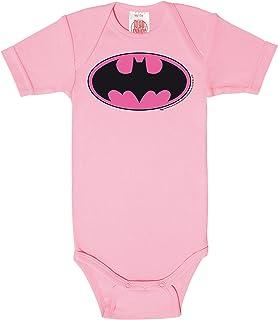 Logoshirt Body pour bébé Batman Logo Rose - DC Comics - Batman Logo Pink - Gigoteuse - Rose - Design Original sous Licence