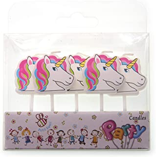 Creationtop Birthday Candles Newborns, 1st Birthday,Wedding Love Candles for Cake (Unicorn)