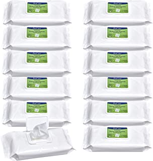 Pro Cure Disposable Adult Washcloths - Enriched with Aloe and Lanolin, Hypoallergenic and Alcohol Free - Premium Quality, ...