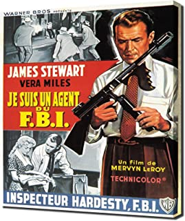 Film Noir Poster - FBI Story, The_01 - Canvas Art Print