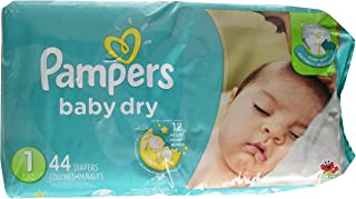 Pampers Baby Dry Diapers Size 1 Jumbo Pack 44 ea