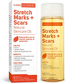 Care Science Stretch Marks + Scars Skin Care Oil, 5.07 Ounce | For Scars, Stretch Marks, Aging & Dehydrated skin | Natural...